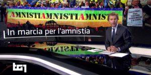 TG 1 Marcia Amnistia Penna Bianca - Partito Radicale